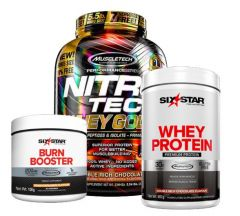Muscletech Whey Gold 5.5lb + 2lb Bonus Protein & Fat Burner Bundle
