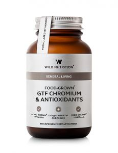 Wild Nutrition Food Grown GTF Chromium & Antioxidants 60 Cap