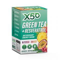 X50 Green Tea + Resveratrol Assorted 30 Serve