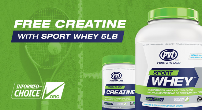 Free Creatine With PVL Sport Whey 5Lb